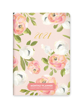 bella flora 2021 monthly pocket planner, front cover