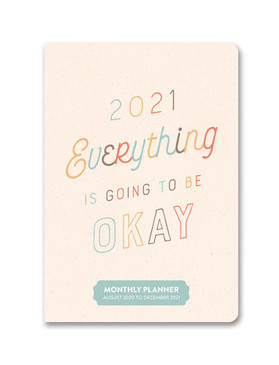 everything is going to be okay 2021 monthly pocket planner, front cover
