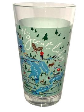 great lakes pint glass, 16 oz.