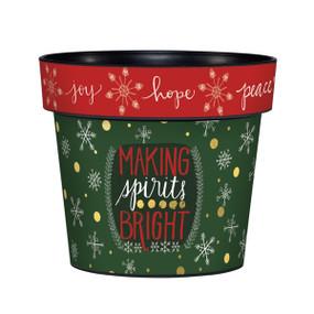 "making spirits bright 6"" art pot"