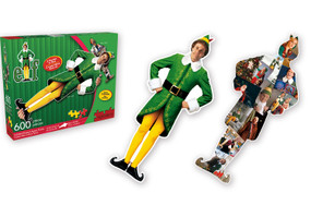 elf 2 sided 600 piece puzzle, 600 pieces