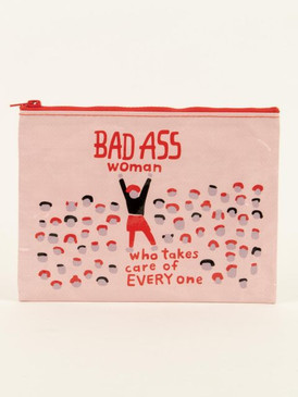 bad ass woman zipper pouch