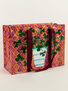 pretty plant shoulder tote