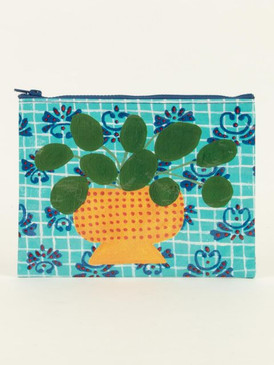 pretty plant zipper pouch