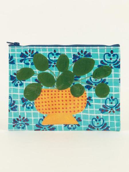 pretty plant zipper pouch