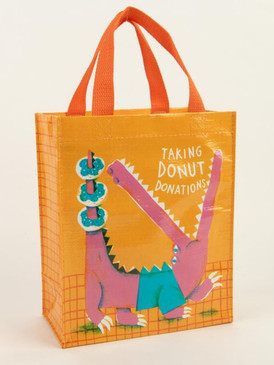 taking donut donations tote