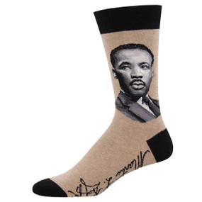 MLK jr. portrait mens crew socks
