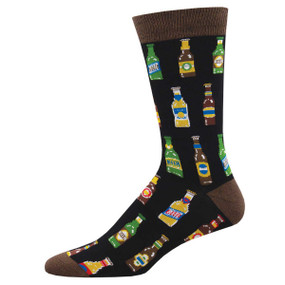 99 bottles mens crew socks