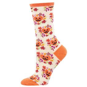 I heart halloween womens crew socks