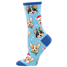 happy pawlidays womens crew socks