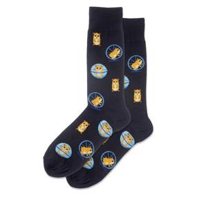 mens hamster wheel crew socks