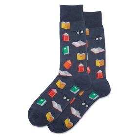 mens books crew socks