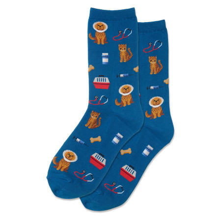 womens veterinarian crew socks