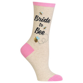 womens bride to bee crew socks