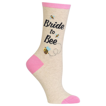 womens bride to bee crew socks