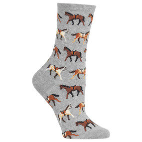 womens horses crew socks