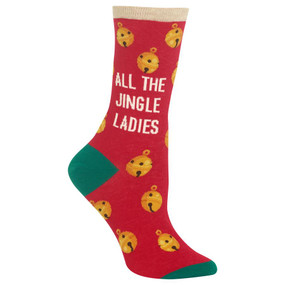 womens all the jingle ladies crew socks