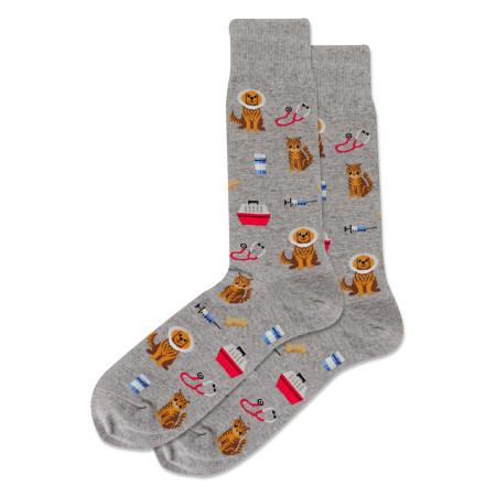 mens veterinarian crew socks