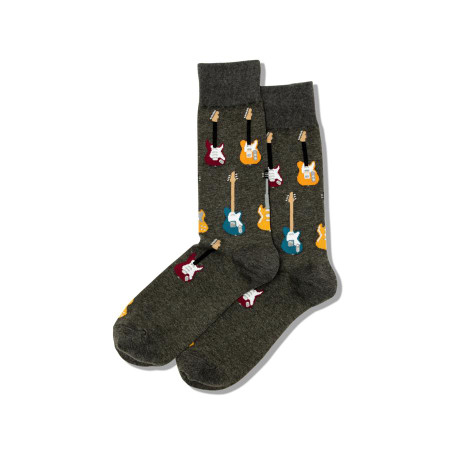 mens guitar crew socks