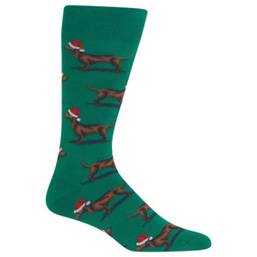 mens christmas dachshunds crew socks