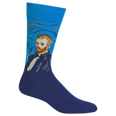mens van gogh's self-portrait crew socks