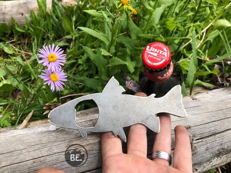 trout fish rustic bottle opener