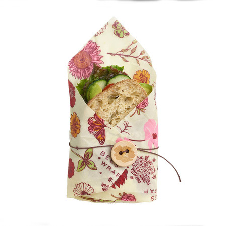 bees sandwhich wrap meadow magic, plant based, reusable