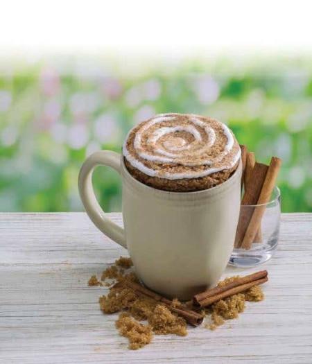cinnamon coffee cake mircowave single