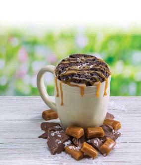 salted caramel brownie mircowave single