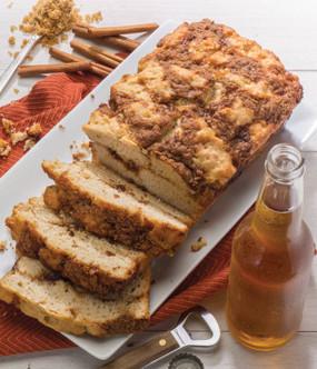 cinnamon crumble beer bread mix
