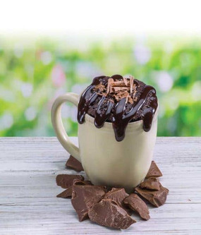ooey gooey chocolate brownie mircowave single