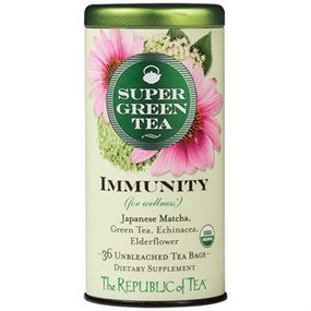 super immunity green tea, natural, organic