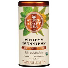 stress suppress adaptogenic herbal tea, hibiscus, rose