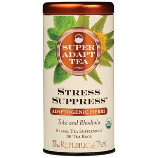 stress suppress adaptogenic herbal tea, hibiscus, rose