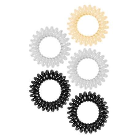 small swirly do hair ties - neutral