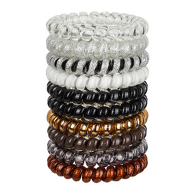 big swirly hair ties - neutral