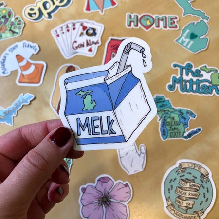 melk - michigan sticker