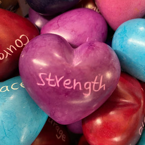 soap stone word heart strength