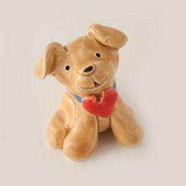 puppy love yellow miniature sculpture