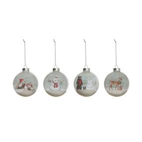 glass ball animal ornament, hedgehog