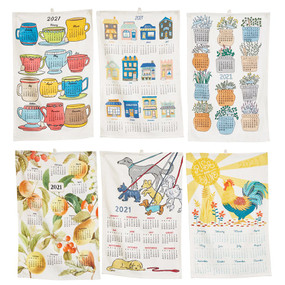 2021 cotton tea towels, cup
