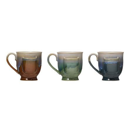 stoneware mug with tea bag holder, brown