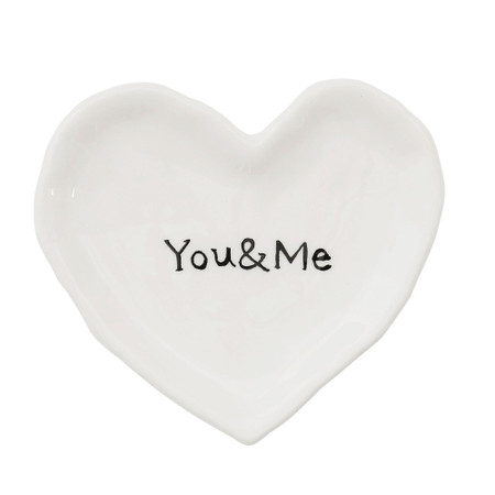 you and me heart dish