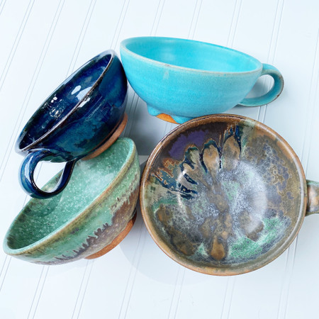 pottery soup bowl