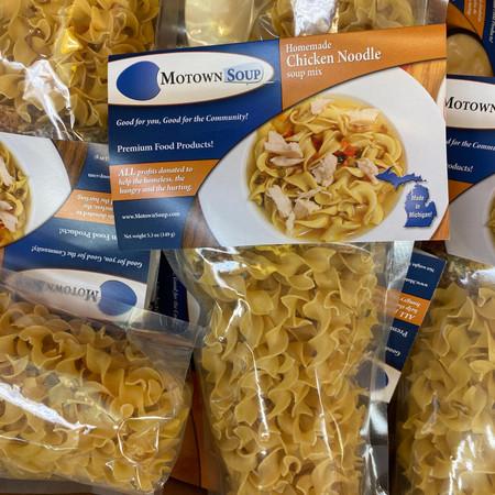 chicken noodle soup mix, prepackaged soup mix