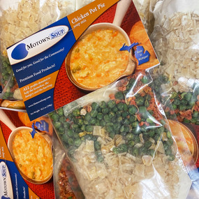 chicken pot pie soup mix, prepackaged soup mix