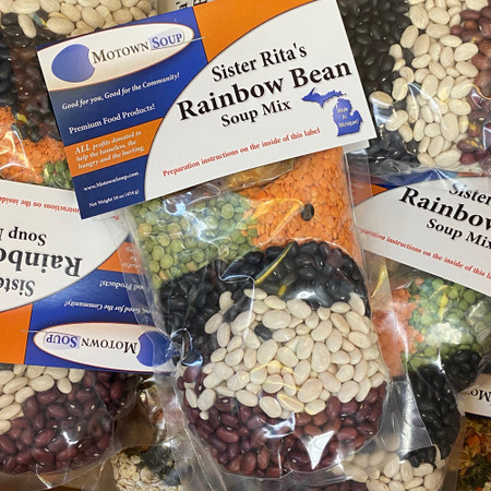 rainbow bean soup mix, prepackaged soup mix