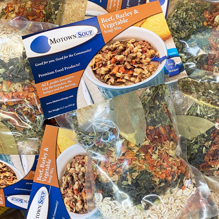 beef barley & vegetable soup mix, prepacked soup mix