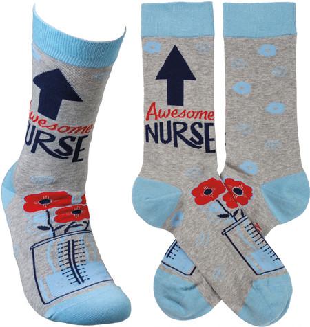 awesome nurse socks