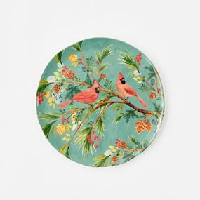 "melamine cardinal platter, 14.5"""